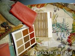"""Fabrics for """"Eva"""" Rug"""
