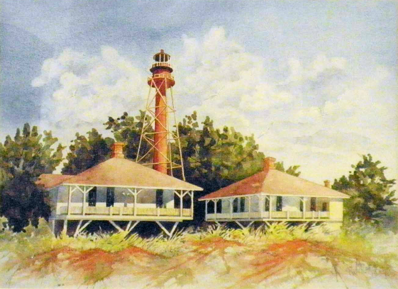 624 - Sanibel Lighthouse Matted