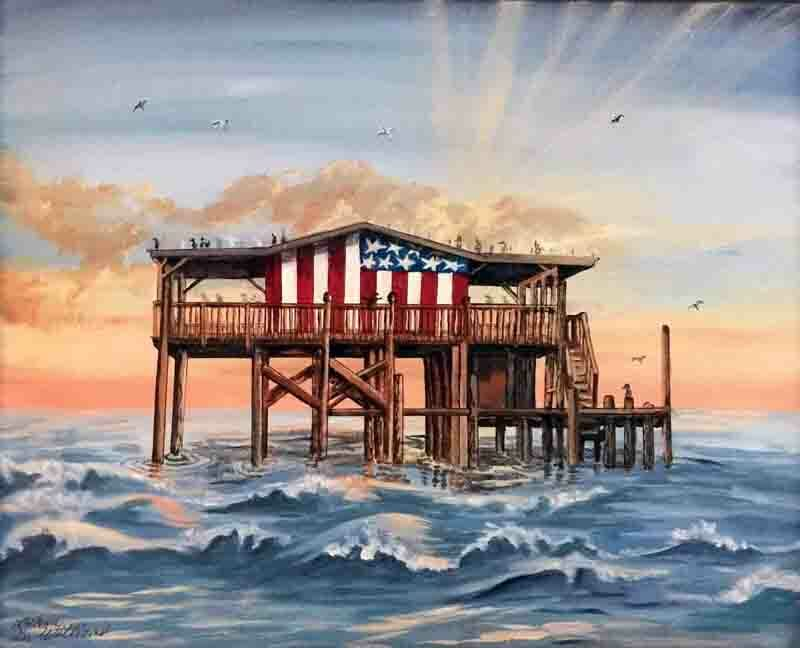 417 - Flag Stilt House Limited Edition Print