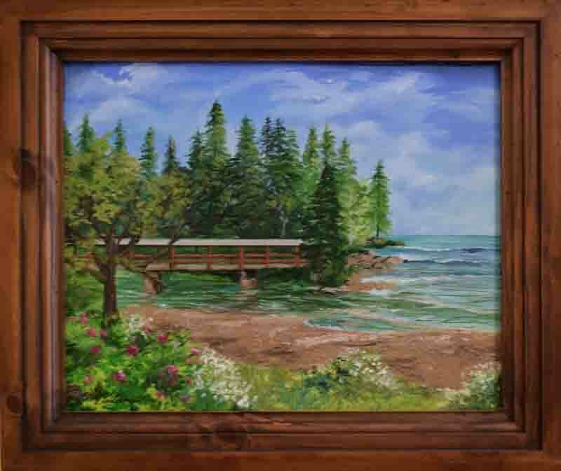 916 - Lutsen Covered Bridge Art