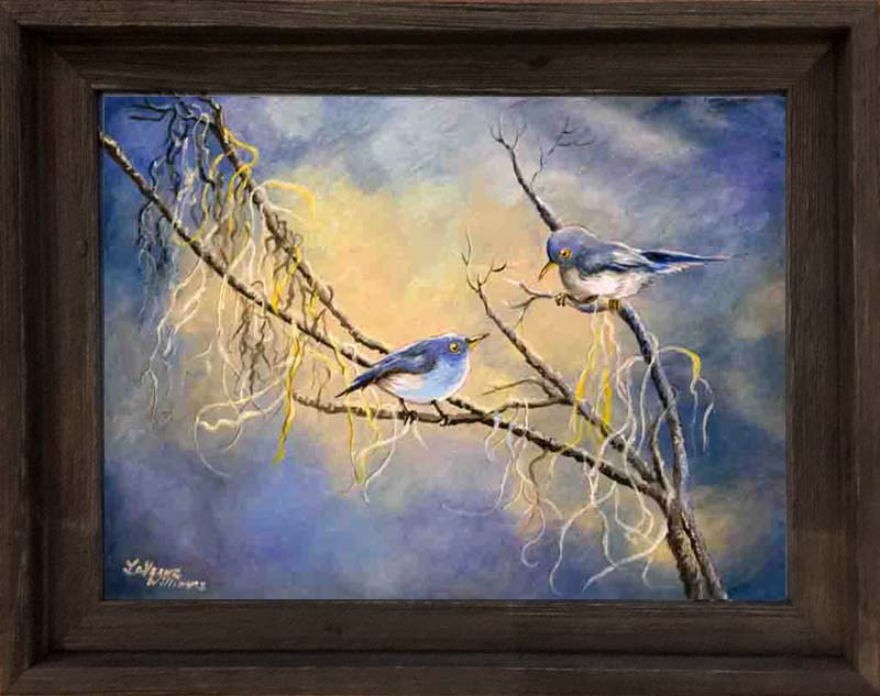 "930 - ""Blue Gray Morn"" (Blue Grey Gnatcatchers)"