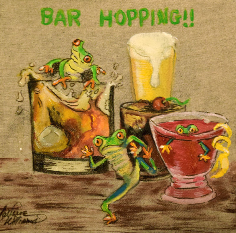 "424 - ""Bar Hopping"" Tree Frogs"